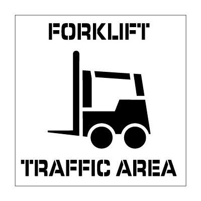 Plant Marking Stencil 20x20 - Forklift Traffic Area