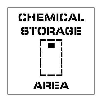 Plant Marking Stencil 20x20 - Chemical Storage Area