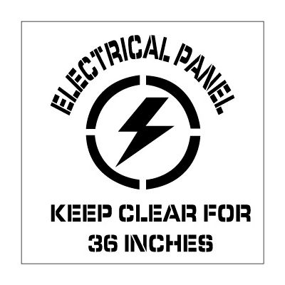 Plant Marking Stencil 20x20 - Electrical Panel