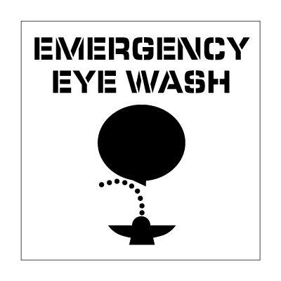 Plant Marking Stencil 20x20 - Emergency Eye Wash