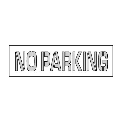 Parking Lot Stencil 24x4 - No Parking