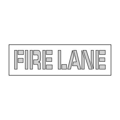 Parking Lot Stencil 61x8 - Fire Lane