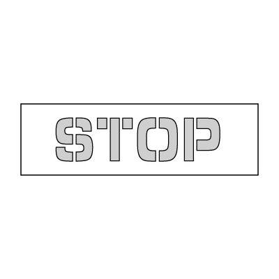 Parking Lot Stencil 35x8 - Stop