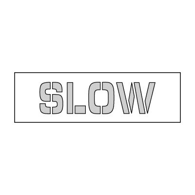 Parking Lot Stencil 35x8 - Slow