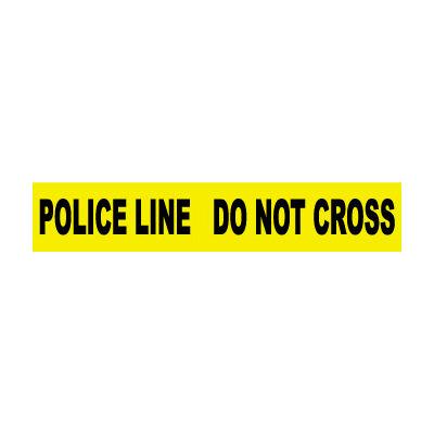 Printed Barricade Tape - Police Line Do Not Cross