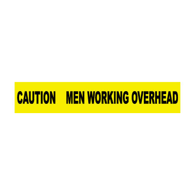 Printed Barricade Tape - Caution Men Working Overhead