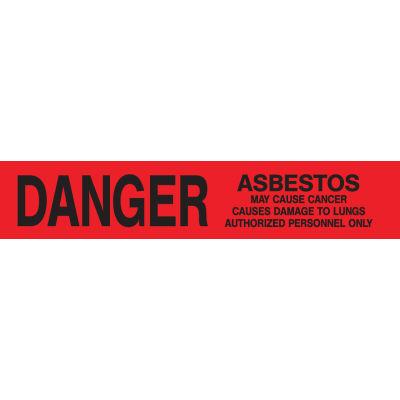 Printed Barricade Tape - Danger Asbestos Hazard