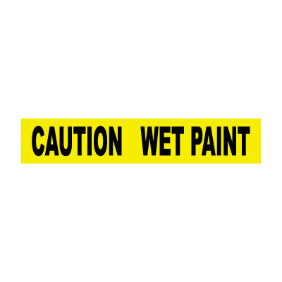 Printed Barricade Tape - Caution Wet Paint