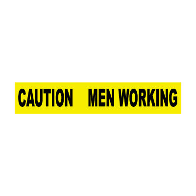 Printed Barricade Tape - Caution Men Working