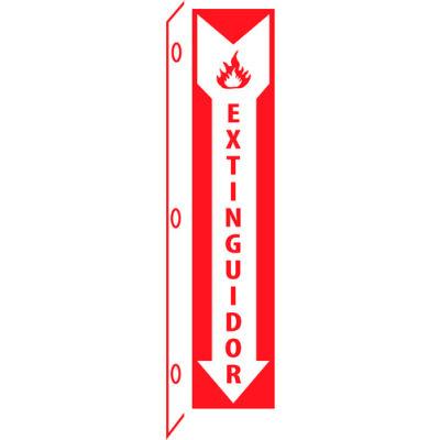 Fire Flange Sign - Spanish - Extinguidor