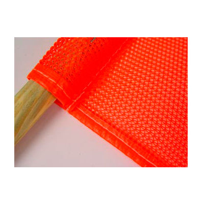 "Saf-T-Flag - Mesh, 18"" x 18"" Flag, 27"" Wooden Handle"