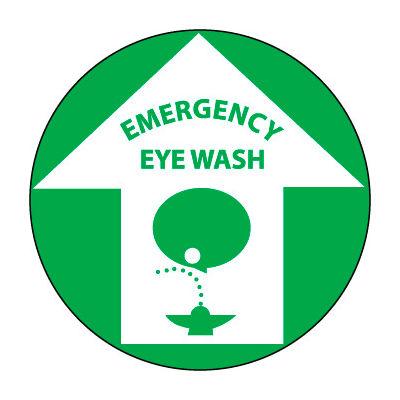 Walk On Floor Sign - Emergency Eye Wash