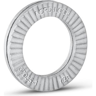 "Nord-Lock 3041 Wedge Locking Washer - Carbon Steel - Zinc Flake Coated - 1/4"" - Pkg of 20"