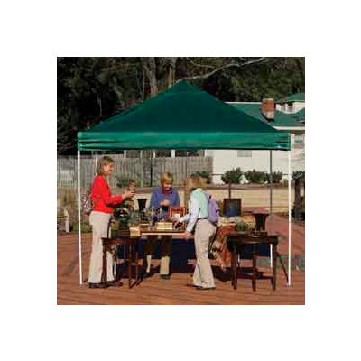 10x10 Straight Leg Pop Up Canopy - Green Cover
