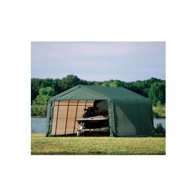 12x28x8 Peak Style Shelter - Green