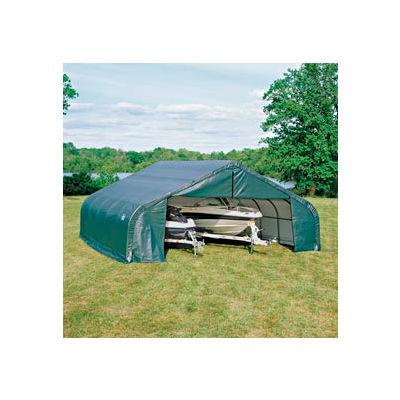 30x28x16 Peak Style Shelter - Green