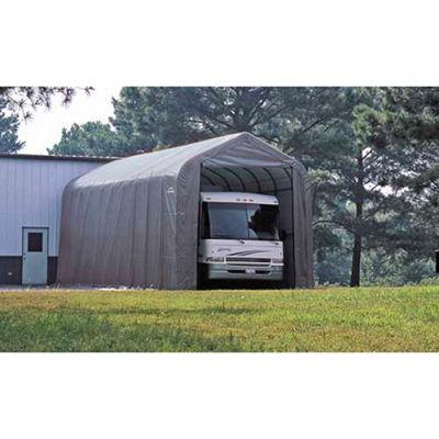 ShelterLogic, 95370, Peak Style Shelter 14 x ft. 24 x ft. 12 ft. Gray