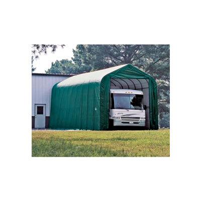 15x40x16 Peak Style Shelter - Green