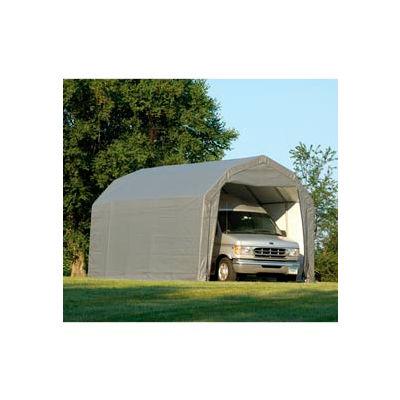 ShelterLogic Barn Style Shelter 12' x 24' x 9' Gray