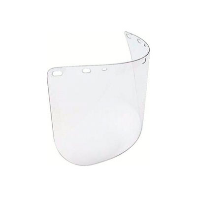 """Faceshield Window, NORTH SAFETY A8154, Clear, Molded, Universal Fit, 8""""H x 15-1/2""""W x .04""""T, 1 Each"""