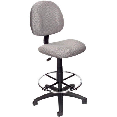 Boss Drafting Stool with Footring -Fabric - Gray