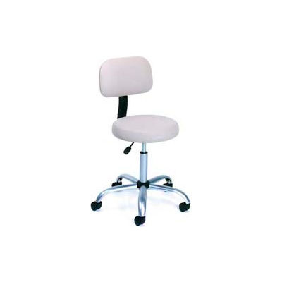 Boss Medical Stool with Backrest - Vinyl - Beige