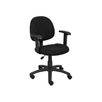 Boss Deluxe Posture Chair with Adjustable Arms Black