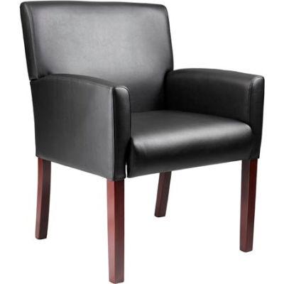 Reception Guest Chair - Vinyl - Black
