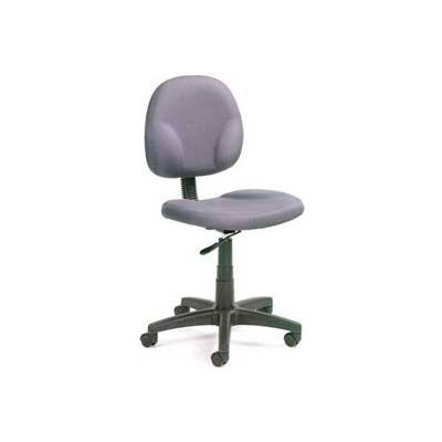 Boss Office Task Chair - Fabric - Mid Back - Gray