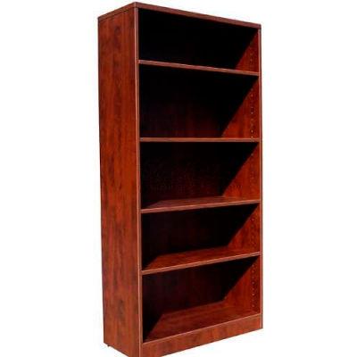 "Boss 5-Shelf Bookcase, 31""W x 14""D x 65-1/2""H, Mahogany"