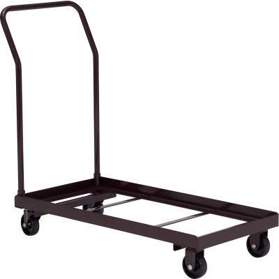 Interion® Chair Cart For Folding Chairs - Horizontal Stack - 36 Chair Capacity