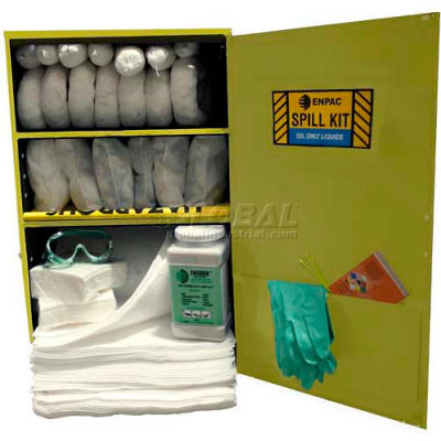 """Wall Mount Spill Containment Cabinet, X-Large, 24""""W x 12""""D x 35""""H, Oil Only"""