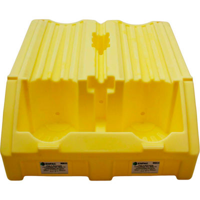 ENPAC® Poly-Racker Double Drum Rack for 55 Gallon Drums - Yellow