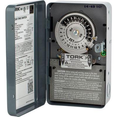 NSI TORK® 1101B 24 Hour Time Switch, 40A, 120V, SPST, Indoor Metal Enclosure, cULus