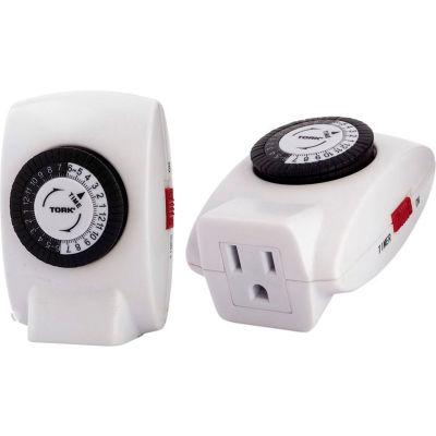 NSI TORK® 402B 24 Hour Plug-In Timer Single Grounded Outlet, 125V, Indoor, 30 Minute Tabs