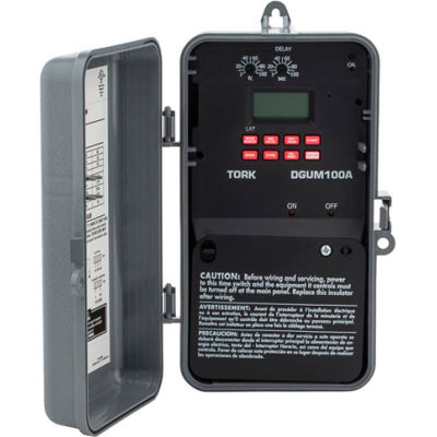 NSI TORK® DGUM100A Astronomic Digital Timer w/ Holiday Input & Momentary Output, 1 Channel, 20A