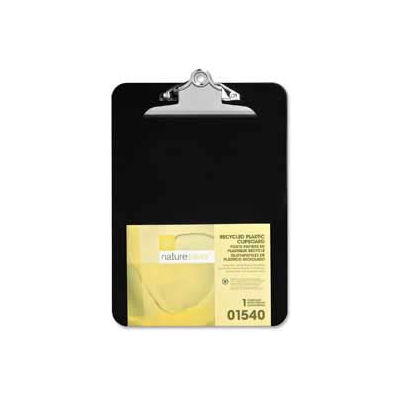 """Nature Saver® Recycled Plastic Clipboard, 9"""" x 12-1/2"""", Black"""