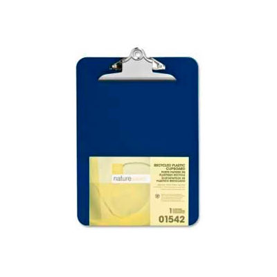 """Nature Saver® Recycled Plastic Clipboard, 9"""" x 12-1/2"""", Blue"""
