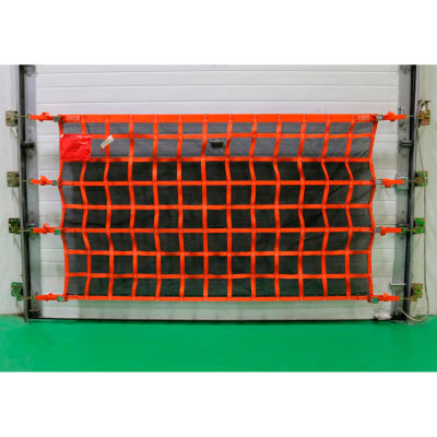 US Netting Loading Dock Door Debris Containment Netting, 4 Feet x 18 Feet, OHDB418