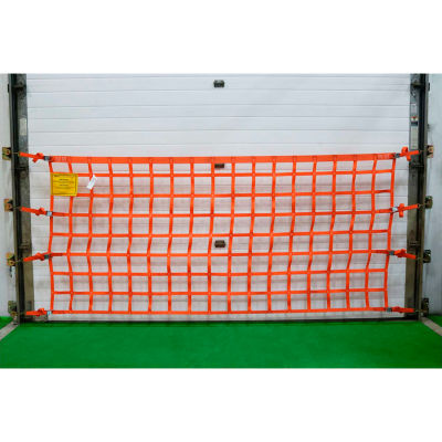 US Netting Loading Dock Safety Net, 4 Feet x 12 Feet, OHPW412-B