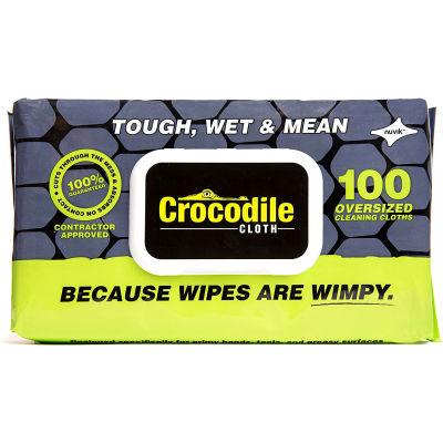 Crocodile Cloth® Professional Original Cleaning Cloth Wipes, 100 Wipes/Pack - Pkg Qty 6