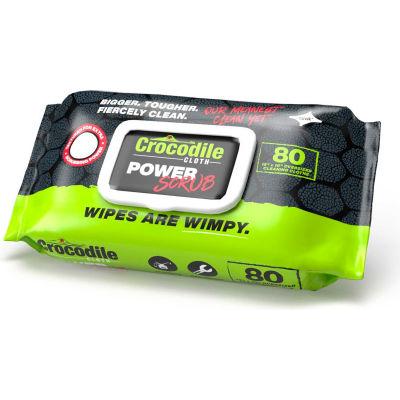 Crocodile Cloth® POWER Scrub - 80 Huge Cloths Per Pack - Pkg Qty 6