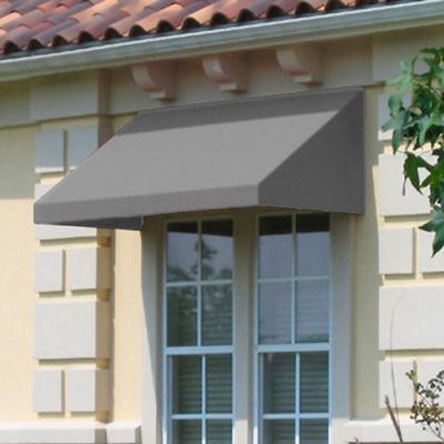 Awntech CN33-10G, Window/Entry Awning 10-3/8'W x 3-11/16'H x 3'D Gray