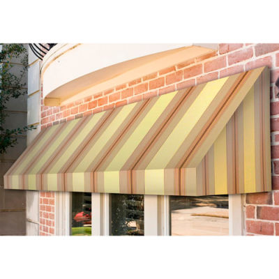 "Awntech CN32-4GCK, Window/Entry Awning 4' 4-1/2"" W x 2'D x 3' 8""H Gray/Cream"
