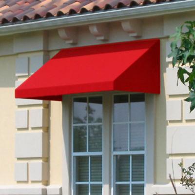 "Awntech CN33-6R, Window/Entry Awning 6' 4-1/2""W x 3'D x 3' 8""H Red"
