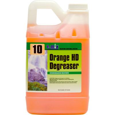 #10 e.mix Orange Degreaser, 64oz. Bottle, 4 Bottles