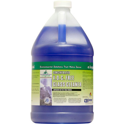 Concentrated V.O.C. Free Glass Cleaner, Gallon Bottle, 2 Bottles