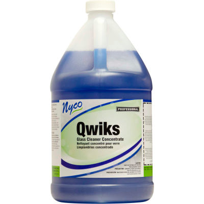 Concentrated Glass Cleaner, Gallon Bottle, 4 Bottles