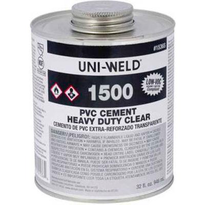 Oatey 1546S 1500 Series PVC Heavy Duty Clear Cement 16 oz. - Pkg Qty 24