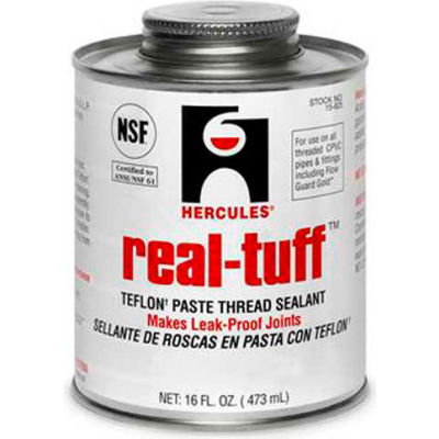 Hercules 15605 Real Tuff Thread Sealant- Display Pack, Plastic Tube (4 Trays) 2 oz. - Pkg Qty 48